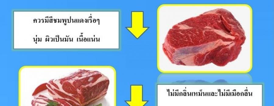 การเลือกซื้อเนื้อสุกร